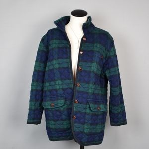 (TALBOTA) Plaid Quilted Coat